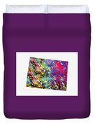 Map Of Colorado-colorful Duvet Cover