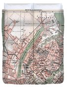 Map Of Copenhagen 1888 Duvet Cover