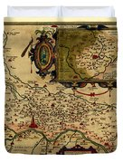 Map Of Cremona 1579 Duvet Cover