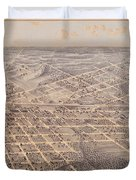 Map Of Dallas 1872 Duvet Cover
