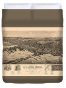 Map Of Duluth 1893 Duvet Cover