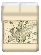 Map Of Europe Duvet Cover by Guillaume Raynal