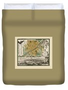 Map Of Florence 1731 Duvet Cover