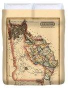 Map Of Georgia 1817 Duvet Cover