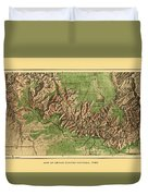 Map Of Grand Canyon 1926 Duvet Cover
