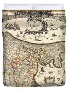 Map Of Holland 1630 Duvet Cover