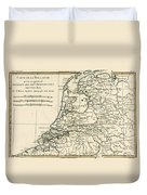 Map Of Holland Including The Seven United Provinces Of The Low Countries Duvet Cover