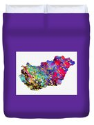 Map Of Hungary-colorful Duvet Cover