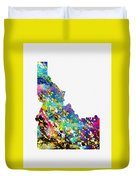 Map Of Idaho-colorful Duvet Cover