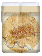 Map Of Imola 1502 Duvet Cover