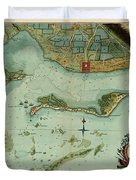 Map Of Jamaica 1756 Duvet Cover