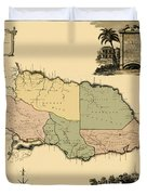 Map Of Jamaica 1763 Duvet Cover