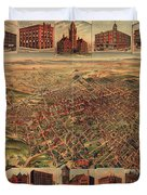 Map Of Los Angeles 1891 Duvet Cover