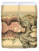 Map Of Montevideo 1808 Duvet Cover