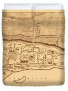 Map Of Montreal 1758 Duvet Cover