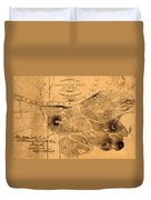 Map Of Nashville 1860 Duvet Cover