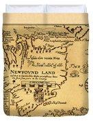 Map Of Newfoundland 1625 Duvet Cover