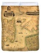 Map Of Norfolk 1851 Duvet Cover