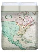 Map Of North America Duvet Cover