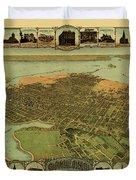 Map Of Oakland 1900 Duvet Cover