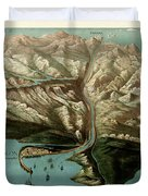 Map Of Panama Canal 1881 Duvet Cover