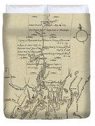 Map Of Plymouth Duvet Cover