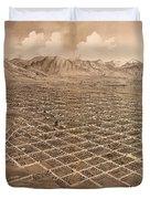 Map Of Salt Lake City 1875 Duvet Cover
