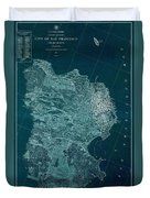 Map Of San Francisco 1857 Duvet Cover
