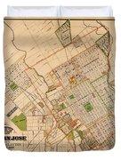 Map Of San Jose 1886 Duvet Cover