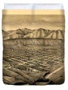 Map Of Santa Barbara 1877 Duvet Cover