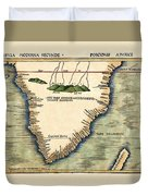 Map Of South Africa 1513 Duvet Cover
