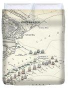 Map Of The Battle Of Copenhagen Duvet Cover