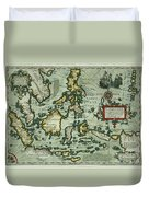 Map Of The East Indies Duvet Cover
