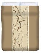 Map Of The Mississippi Riverr 1775 Duvet Cover