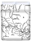 Map Of The Trans-siberian Railway Duvet Cover