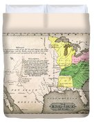 Map Of The United States Duvet Cover
