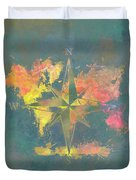 Map Of The World Wind Rose 2 Duvet Cover