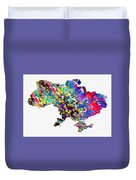 Map Of Ukraine-colorful Duvet Cover