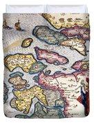 Map Of Zeeland Duvet Cover