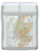 Map: Scotland Duvet Cover