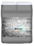 Map View For Travel To Locations And Destinations Duvet Cover