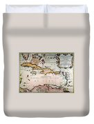 Map: West Indies Duvet Cover