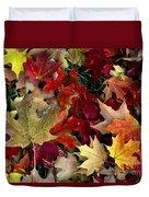 Maple Leaf Colors Duvet Cover