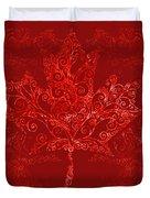 Maple Leaf Filigree Pattern Duvet Cover