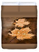 Maple Leaves And Drops Pnt Duvet Cover