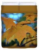 Maple Leaves In Autumn Duvet Cover