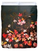 Maple Leaves On The Water  Duvet Cover