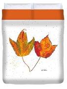 Fall Maple Leaves Duvet Cover