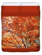 Maple Tree Foliage Duvet Cover
