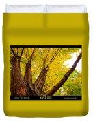 Maple Tree Poster Duvet Cover